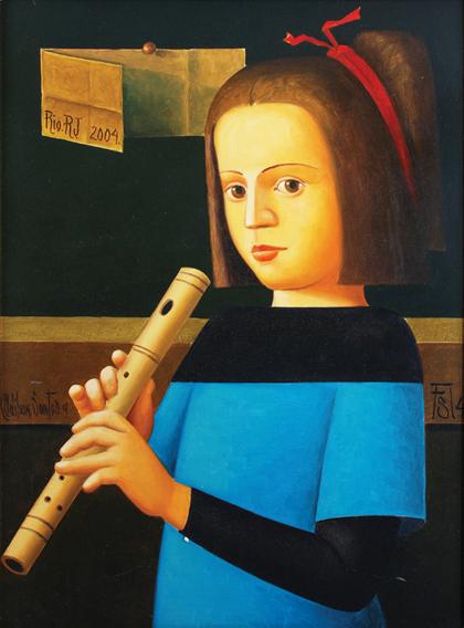 Adilso Santos - Menina com Flauta, 2004