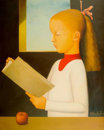 Adilson Santos - Menina lendo uma carta, 2005