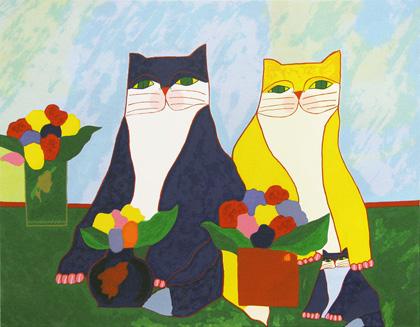 Aldemir Martins - Família de Gatos
