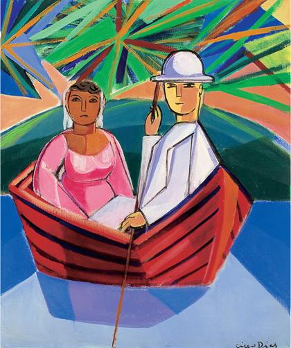 Cícero Dias - Casal no barco