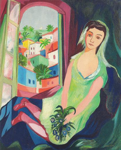 Cícero Dias - Mulher na varanda