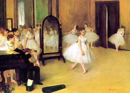 Degas - Aula de dança 1871