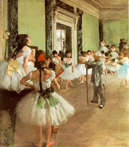 Degas - Aula de dança 1873-75
