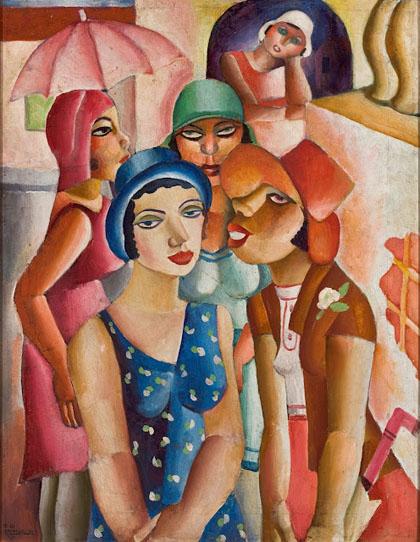Di Cavalcanti - Cinco Moças de Guaratinguetá, 1930