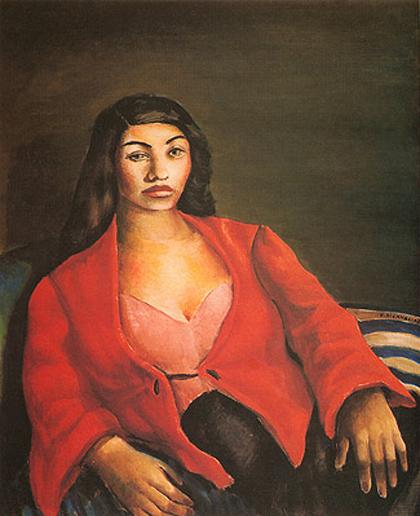 Di Cavalcanti - Mulher em Vermelho (1945)