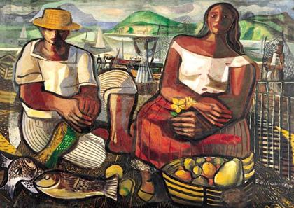 Di Cavalcanti, Pescadores (1951)