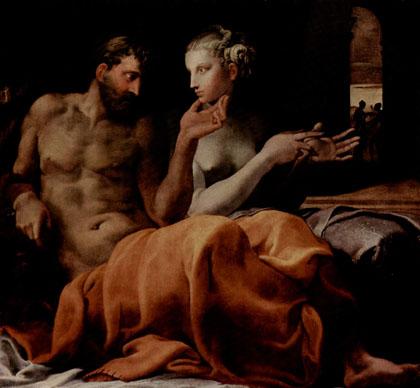 Francesco Primaticcio - Odisseu e Penélope