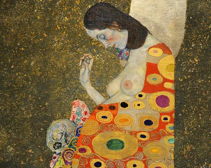 Gustav Klimt - Esperança II (1908), detalhe