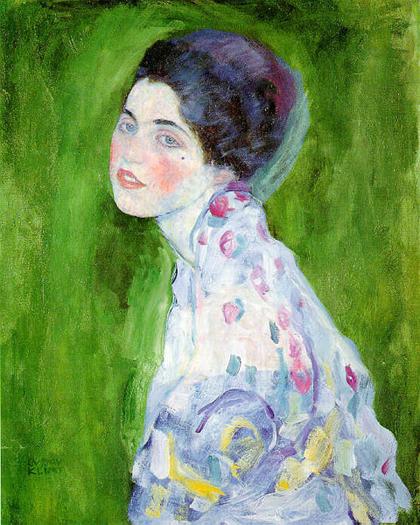 Gustav Klimt - Retrato de moça (1916)