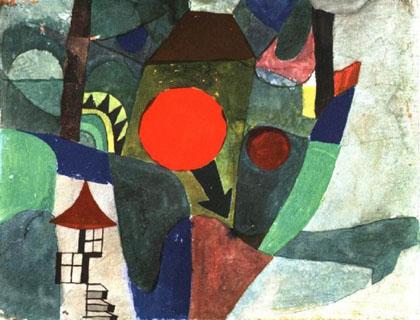 Paul Klee - Com o Sol se Pondo