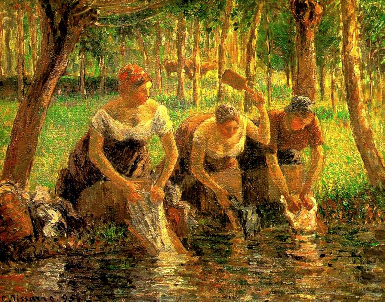 Pissarro - Lavadeiras - 1895