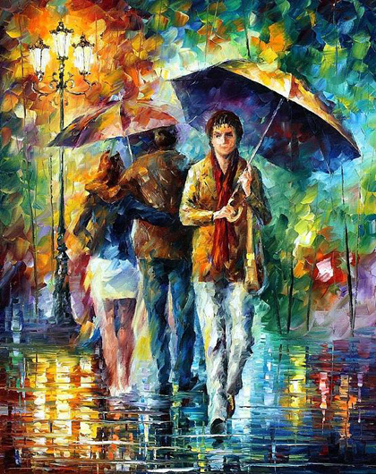 Leonid Afremov - Rainy Day