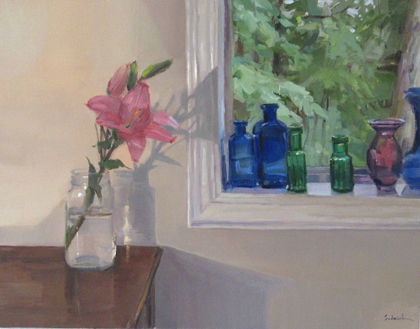 Sarah Sedwick - Pink lily by the window