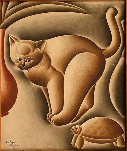 Vicente do Rego Monteiro - Gato e tartaruga - 1925