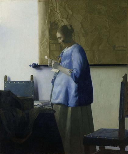 Vermeer - Mulher de Azul Lendo uma Carta